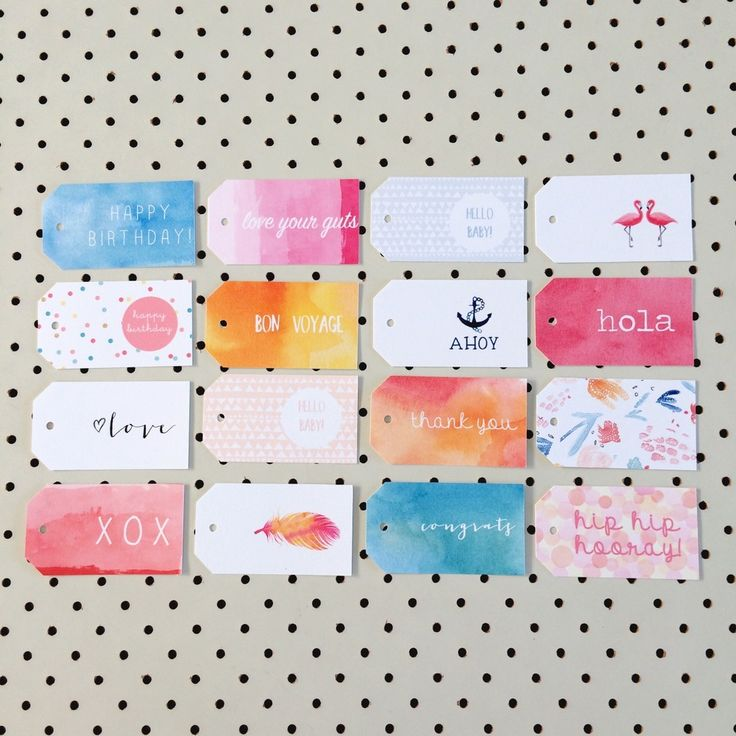 Be ready for any occasion with this mixed pack of gift tags.You will receive one of each design.Printed on high quality felt card stock.