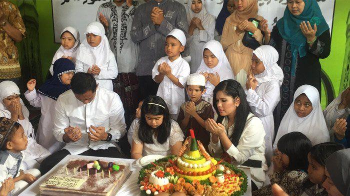 Gelar Pesta Ulang Tahun, Annisa Pohan Rayakan Syukuran Bersama Agus dan Sang Putri di Panti Asuhan!
