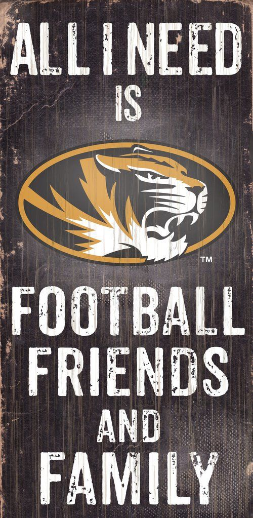 Missouri Tigers Wood Sign - Football Friends and Family - 6 x12