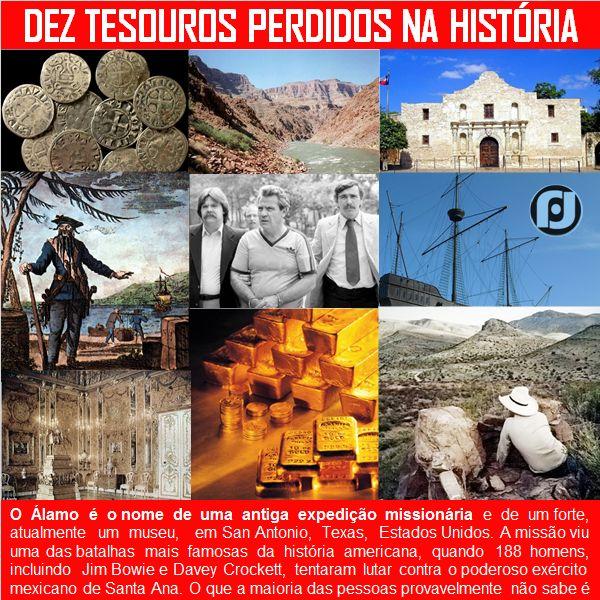 Dez Tesouros perdidos na história