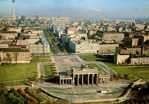 East Berlin from Air (1970 - Postcard)