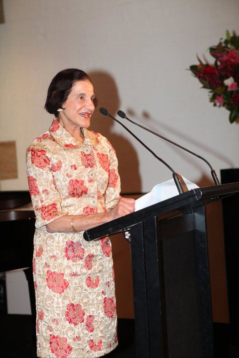 The Governor of New South Wales,Marie Bashir,speaking before a Mojca Erdmann Concert I produced.Mojca is a German Opera Star