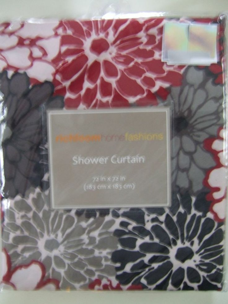 Red Gray Shower Curtain EBay  Pink And Curtains Fabric Geometric Blood