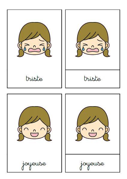 des cartes de nomenclature pour nommer ses émotions. issu d'un blog mais je ne retrouve plus lequel!......