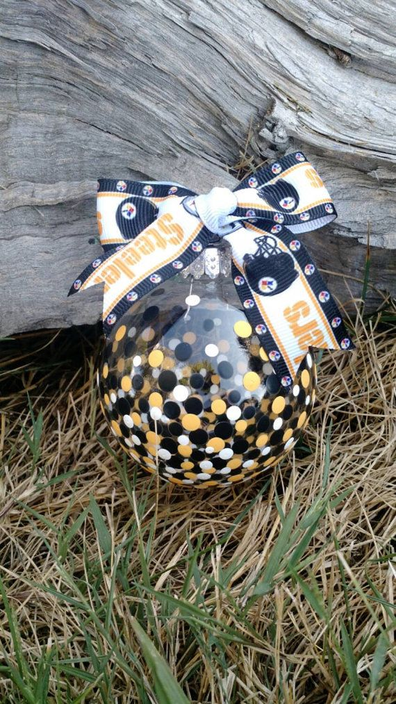 Pittsburgh Steelers inspired large bulb by DarlingDotsDesign