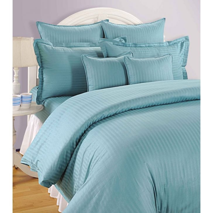Swayam Sonata Classic Contemporary Bed Set Blue - FabFurnish.com