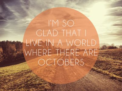 oh how I love Octobers