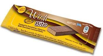 ''WISH'' Bite Wafer with Milk Chocolate (without sugar)
