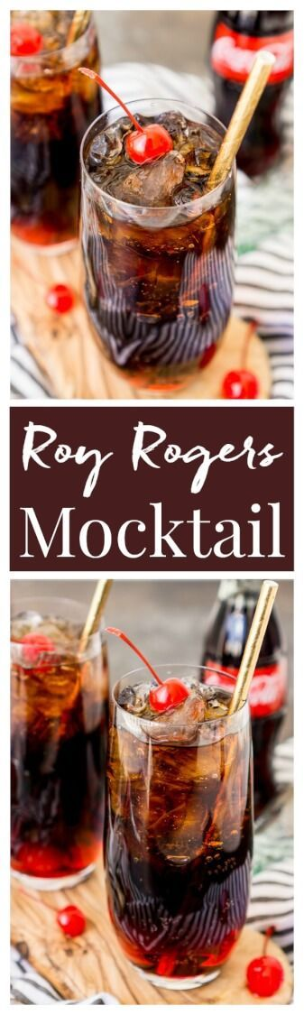 Roy Rogers Mocktail is an easy and popular non-alcoholic drink recipe made with Coke and grenadine and named for the famous singer and actor via /sugarandsoulco/