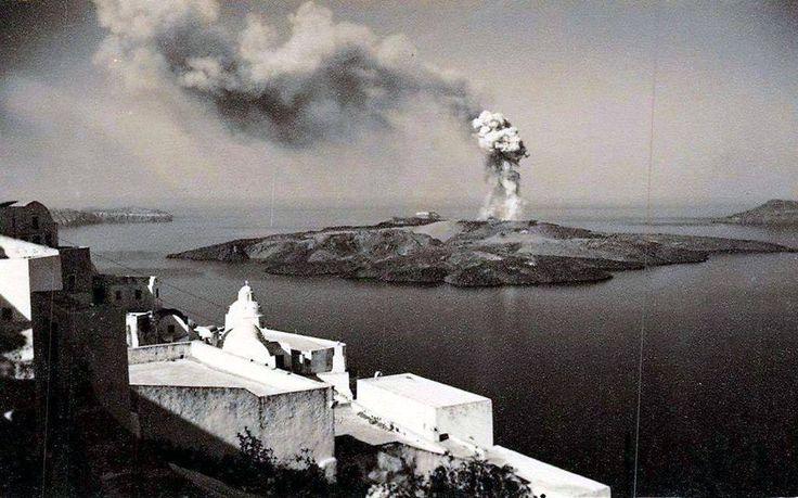 Σαντορίνη 1952...το ηφαίστειο .