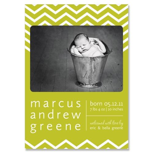 cute baby announcements Chevron  - Unique Joey Collection by The Green Kangaroo: Cute Baby Announcements