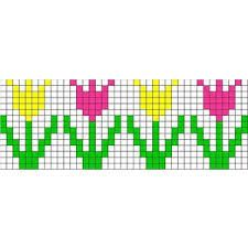 Image result for cross stitch pattern tulip