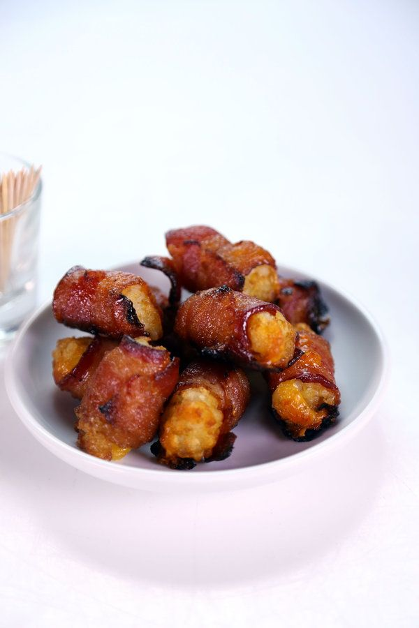 They made these Bacon Tater Tots on The Chew today! The hosts could not stop eating them! Making these!