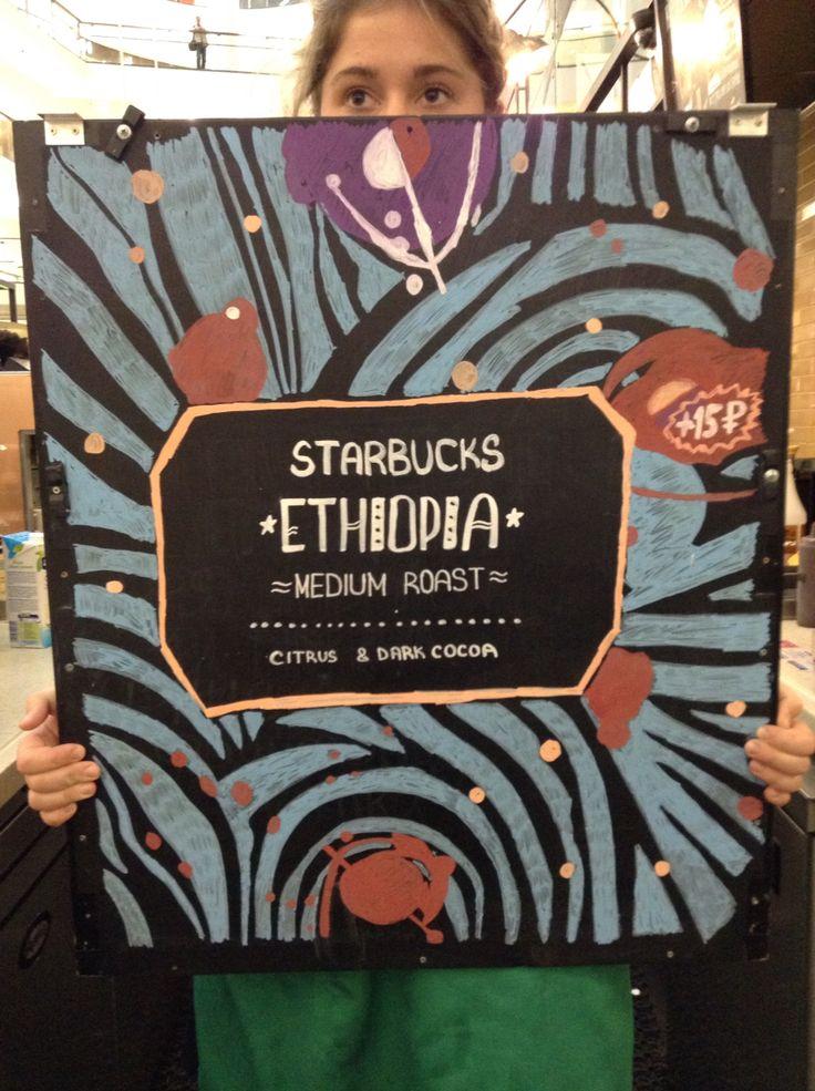 Starbucks Ethiopia Origin Espresso billboard. Author: Oleg Petrenko