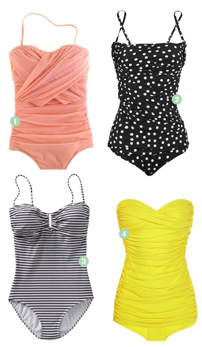 Retro swimsuit Ok, it's not yet summer but I've got the feeling there's something missing in my closet: a retro swimsuit. So I started searching for some fashionable swimwear. Which one of these four do you like the best?  Images: 1. J.Crew| 2. Dolce & Gabbana | 3. Old Navy| 4. Norma Kamali