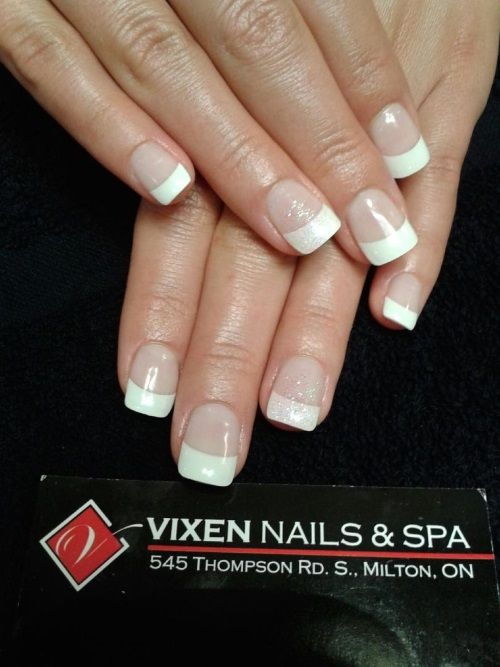 Natural French Gel Nails by Ashley www.vixenspa.com