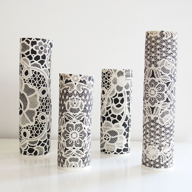 Lace Vases by Lisa Firer
