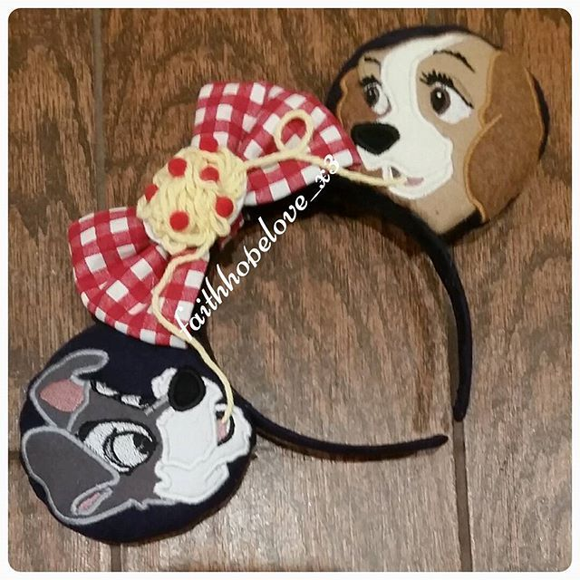 """Lady And The Tramp"" Minnie Mouse Disney Ears"