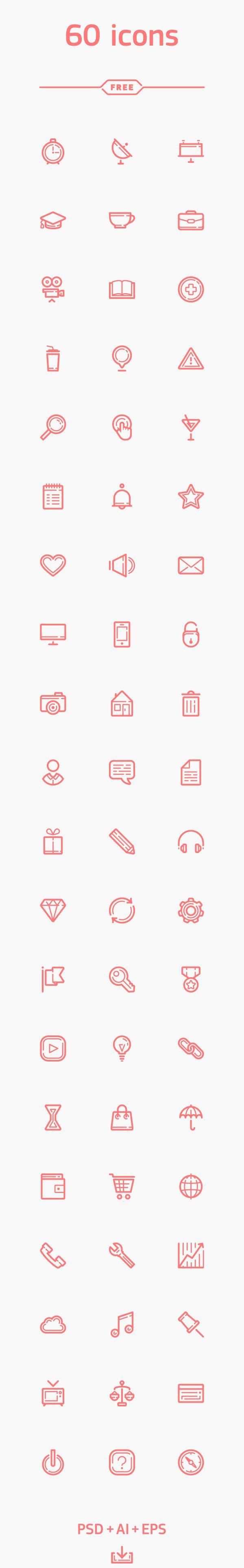 60 Icons für klassische Webprojekte und mehr