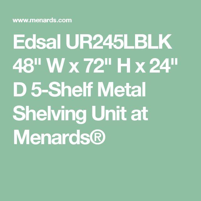 "Edsal UR245LBLK 48"" W x 72"" H x 24"" D 5-Shelf Metal Shelving Unit at Menards®"