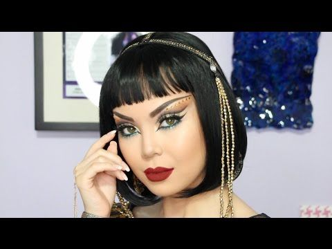 Egyptian Goddess Halloween Makeup Tutorial - YouTube