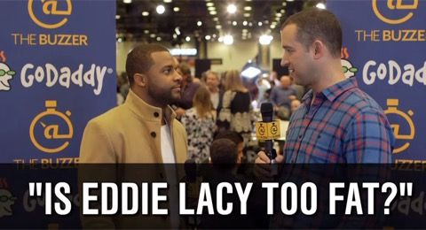 Someone Asked Randall Cobb if Eddie Lacy is Too Fat -- Eddie Lacy's weight has been a big topic of conversation since the season ended. Someone questioned Randall Cobb about it at the Super Bowl this week.