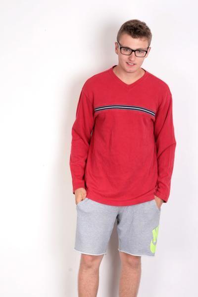 Tommy Hilfiger Mens L Jumper Blouse Long Sleeve Red - RetrospectClothes