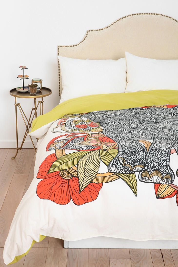 The Elephant Duvet Cover By Valentina Ramos #urbanoutfitters