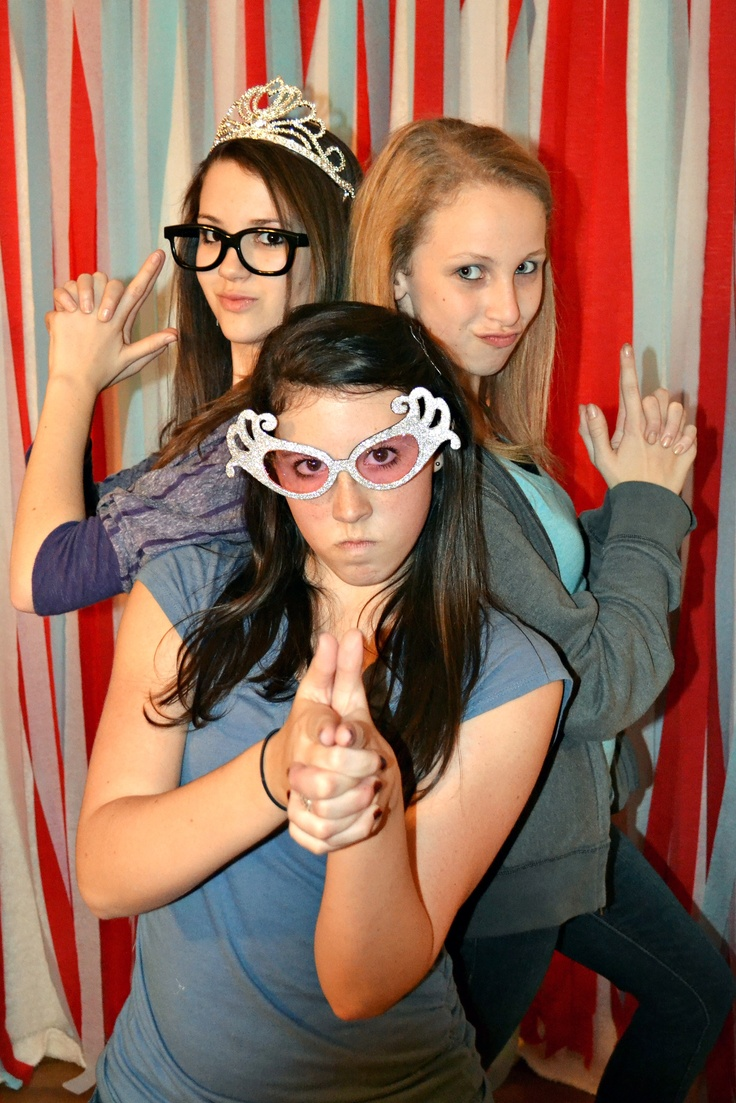 13th Birthday Party - Photo Booth. The kids had alot of fun with this!