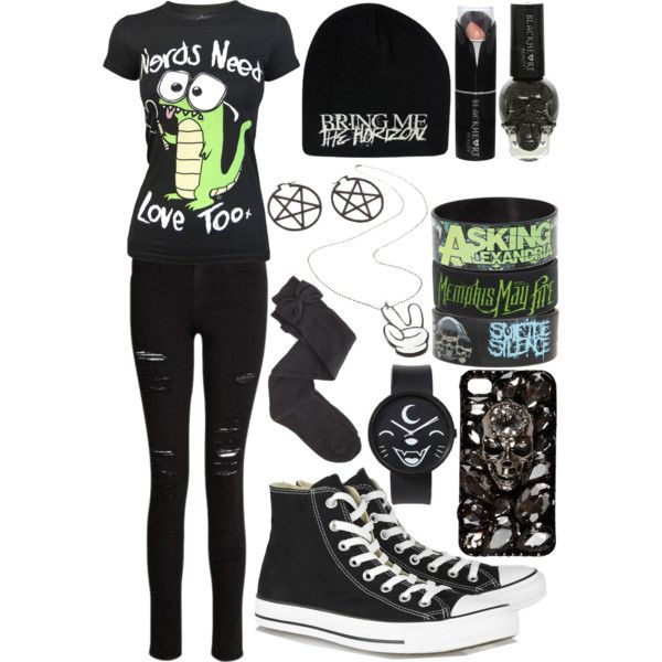 Nerds Need Love Too, scene/emo outfit