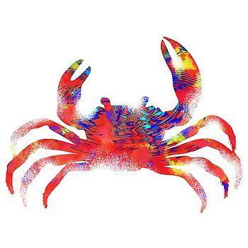 Nostalgic Art - Colorful Crab