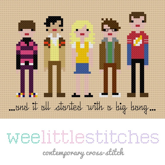 The Big Bang Theory Cross-Stitch Pattern - Kathy Scaggs, this is what is missing in your living room