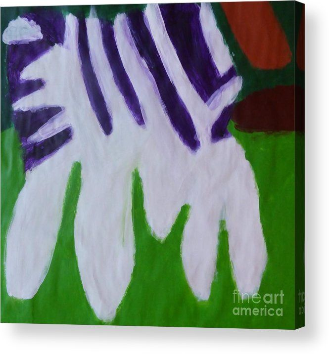 Patrick Francis Acrylic Print featuring the painting Zebra 2014 by Patrick Francis