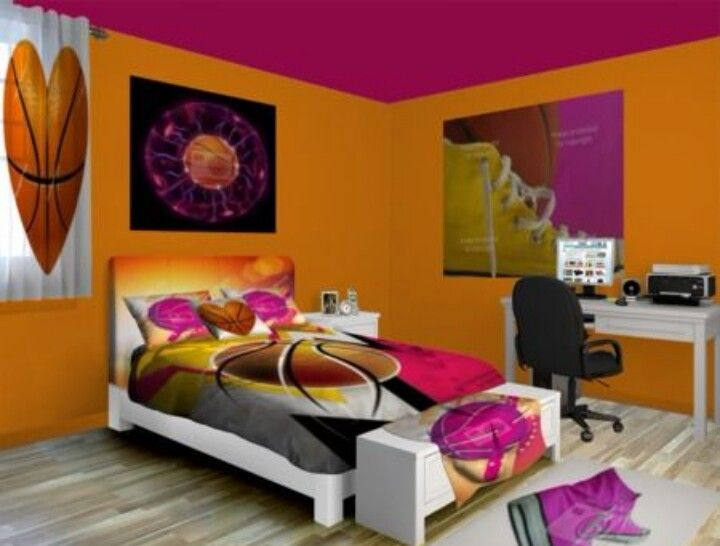Orange Girl Room Basketball Inspired Peachy Orange