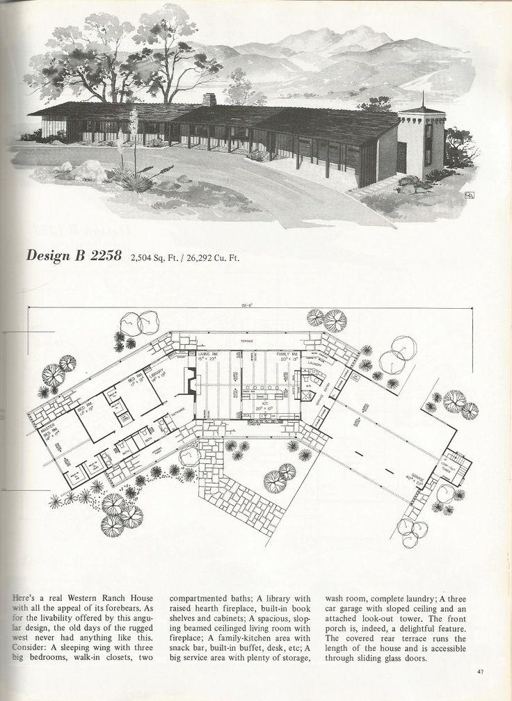 983 best mid century homes images on pinterest vintage for Western homes floor plans