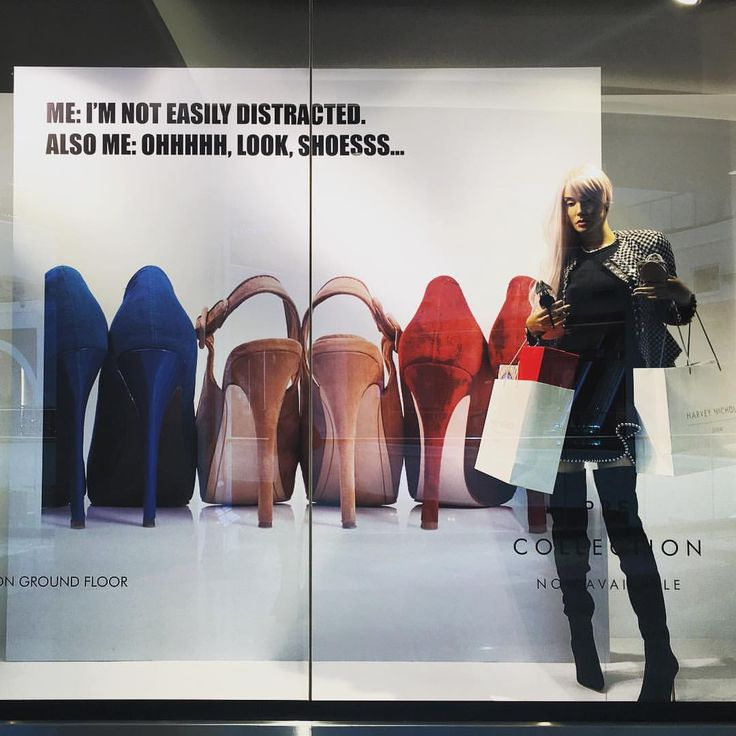 """HARVEY NICHOLS, Mall of the Emirates, Dubai, United Arab Emirates, """"I'm not easily distracted..."""",  photo by Kat Appleyard, pinned by Ton van der Veer"""