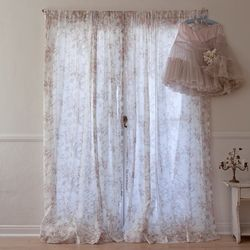 Floral Voile Curtain From Rachel Ashwell Shabby Chic Couture