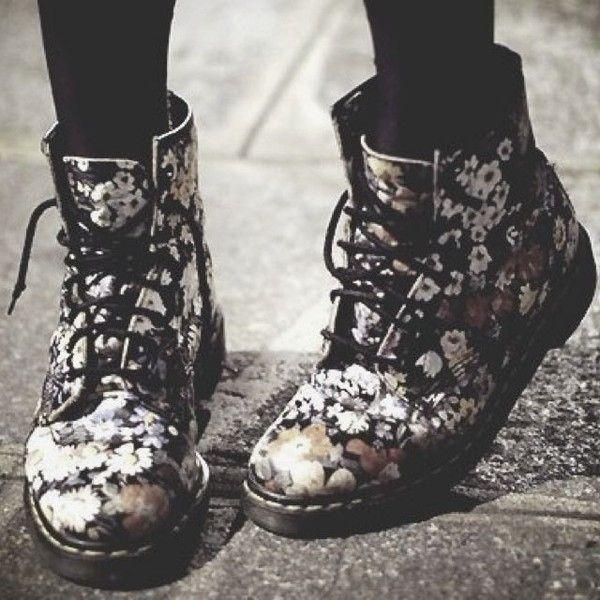 Best 20  Floral combat boots ideas on Pinterest | Good winter ...