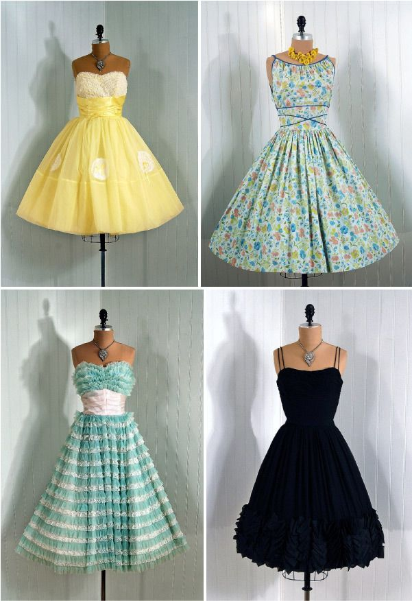 Cute very 50's vintage dresses style