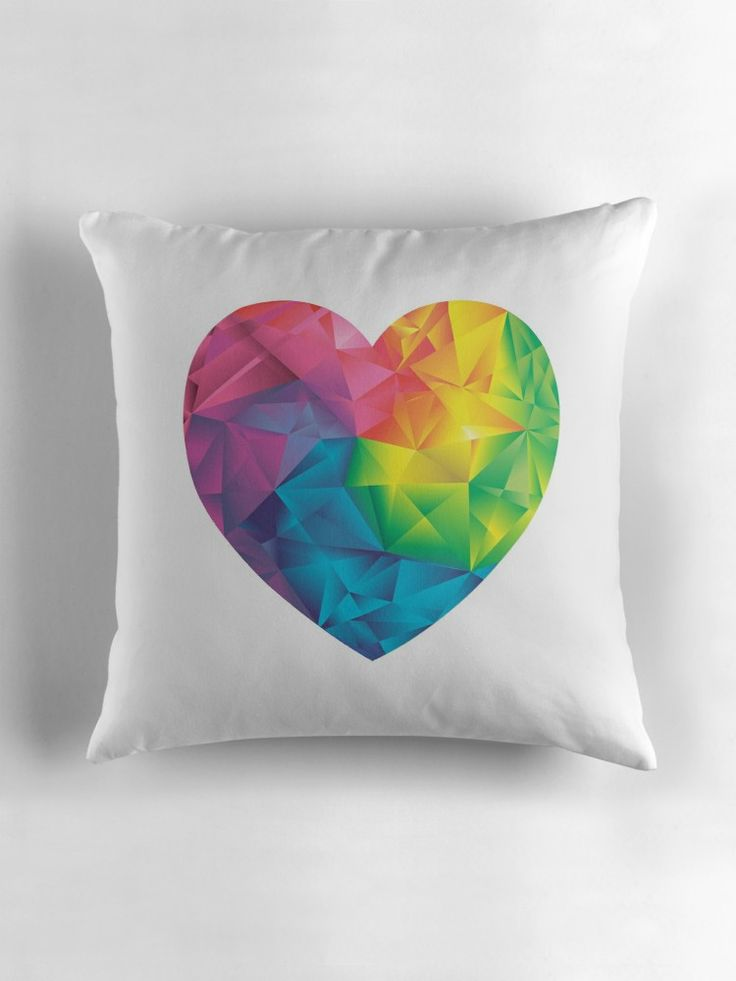 22 36 throw pillows low poly heart 18x18 inch awesome beautiful perfect best top gift for yourself and for the special person in your life