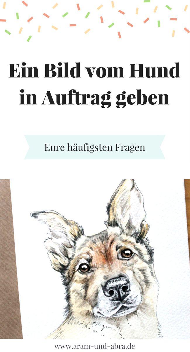 Bevor man ein Tierportrait in Auftrag gibt, müssen ein paar Dinge geklärt werden. Wie viel kostet es, wenn man mehrere Hunde malen lässt? Reicht ein Handyfoto als Vorlage? Und was ist, wenn man die Zeichnung für eine Homepage nutzen möchte? | Hund | #zeichnen | Bild | malen | Kunst | Blog | Aram und Abra | www.aram-und-abra.de