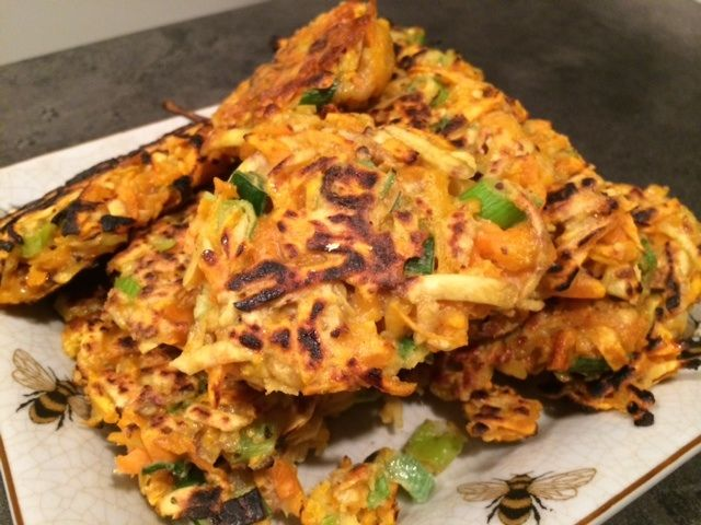 Kumera and Butternut Pumpkin Fritters