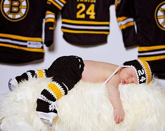 BABY HOCKEY BOYS Boston Bruins pacifier not by Grandmabilt on Etsy