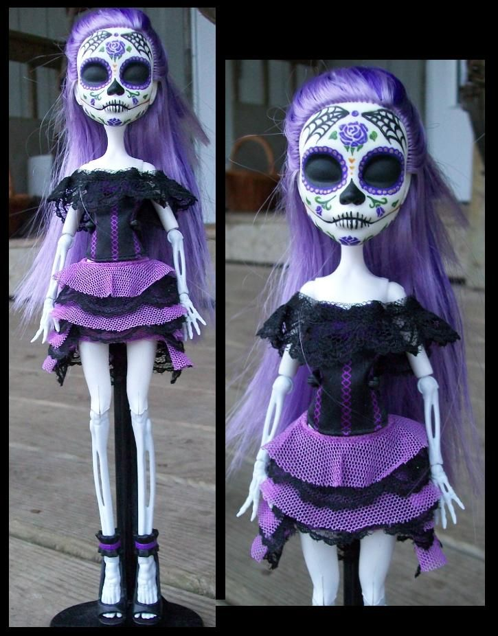 Monster High Custom Spectra 'Day of the Dead' Doll by ~macabredarling    Basically, this is what I want to get in to.