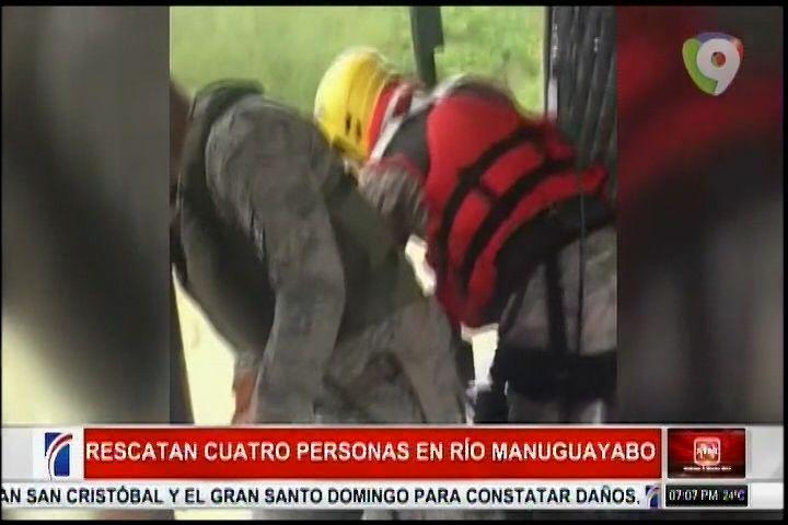Autoridades Rescatan Cuatro Personas Que Quedaron Atrapadas Por Desbordamiento Del Río Manuguayabo