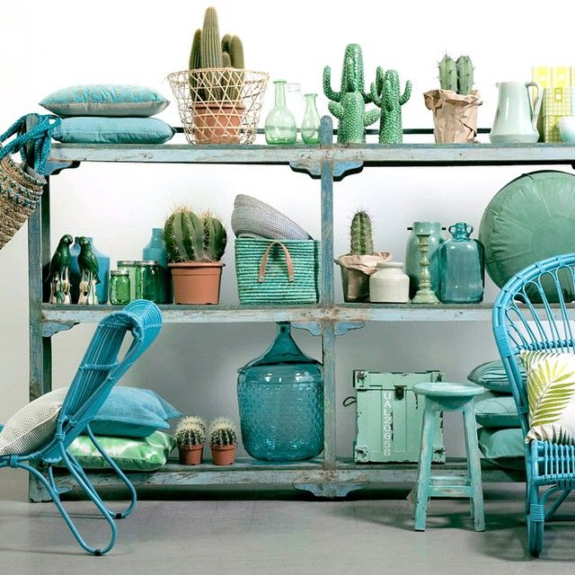 Green, mint and aqua Home styling