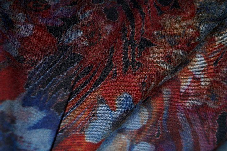 NB16/17 9093-036 wintertricot bloemen grijs/blauw/terra