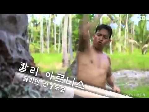 한국 무술 스쿨 아이카스 - 칼리 아르니스, 펜칵 실랏 한국 총 본관 훈련 영상