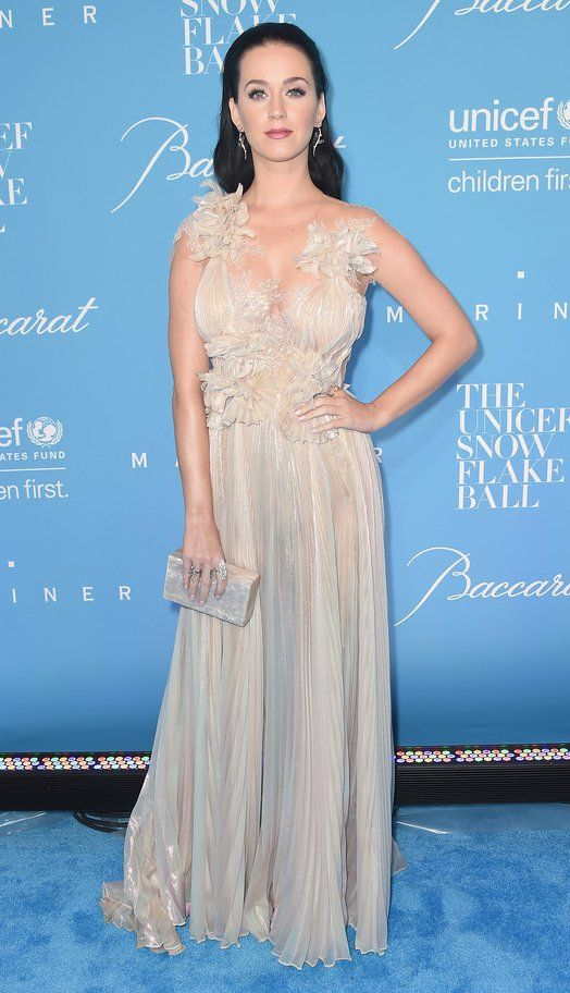 Katy Perry in Marchesa attends the 12th Annual UNICEF Snowflake Ball. #bestdressed