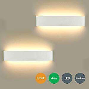 2 Stücke Wandlampe LED 16W Wandleuchte Modern Wan…